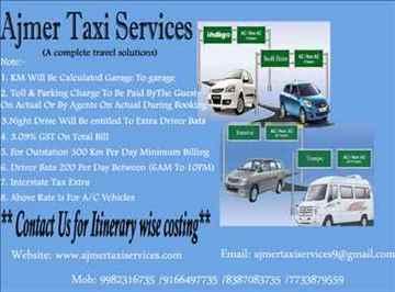 ajmer taxi services ajmer tour pushkar tour