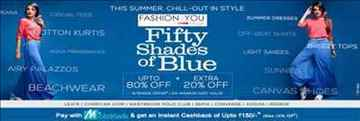 Fashionandyou Fifty Shades of Blue Upto 80% off + Extra 20% off