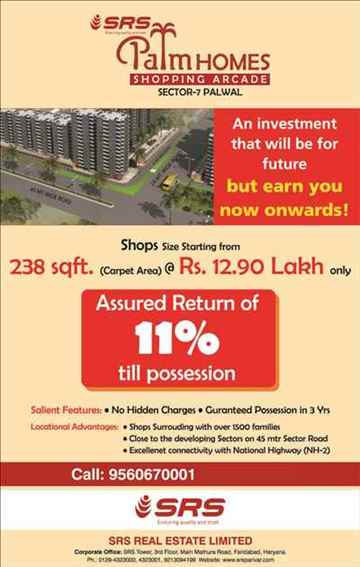 SRS PALM HOME COMMERCIAL SHOPPING ARCADE AT SECTOR 7 PALWAL
