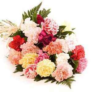 Flowers Bunch of carnation,You can book it online.
