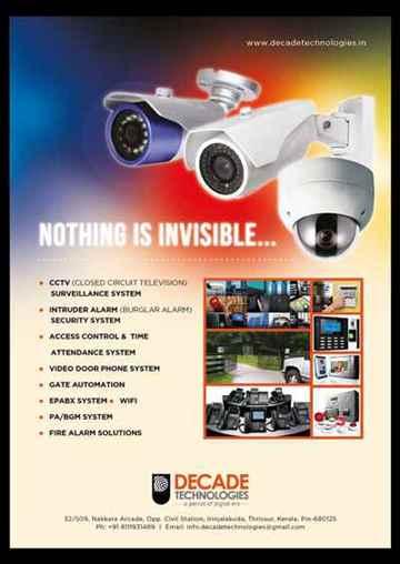 CCTV INTRUSION ALARM BIO METRIC ATTENDANCE AUTOMATION HOME THEATRE EPABX