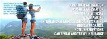 Malaysia Singapore China UAE Tourist Business visas in Kochi