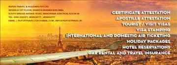 Air Ticketing Tourist visas Agent in Kochi