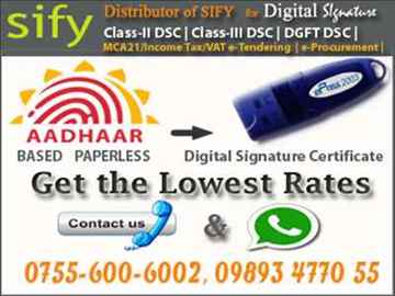 DIGITAL SIGNATURE CERTIFICATE FOR ONLINE TENDER AND INCOME TAX RETURN