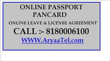 www aryaatel com Online Leave License Agreement in Chinchwad Pan Card Online Passport in Pune