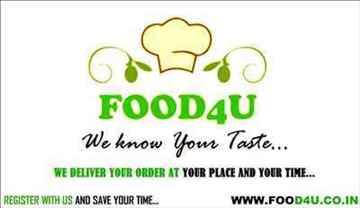 FOOD4U ONLINE FOOD SERVICE PROVIDER ANAND VALLABH VIDHYANAGAR KARAMSAD