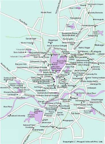City Map of Hyderabad