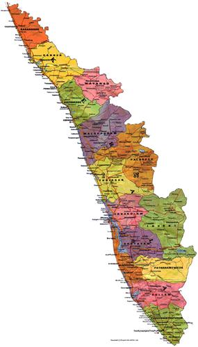 Political Map of Kerala