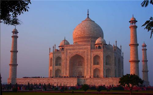 Taj Mahal Reflection Evening