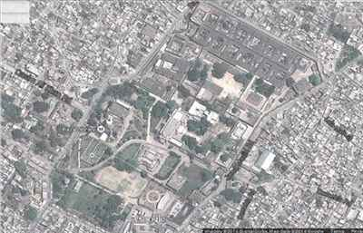 Google map  satellite view of the city