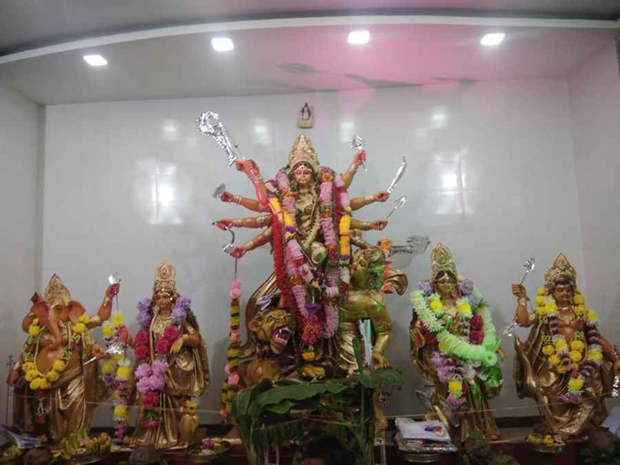 Ravichandra Natya Mandir Durga Puja AOC Gate