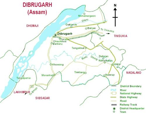 Geography of Dibrugarh