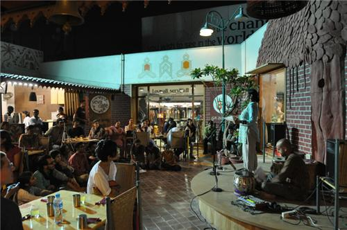 Enjoy the food and sense of giving with melodious music at Seva Cafe