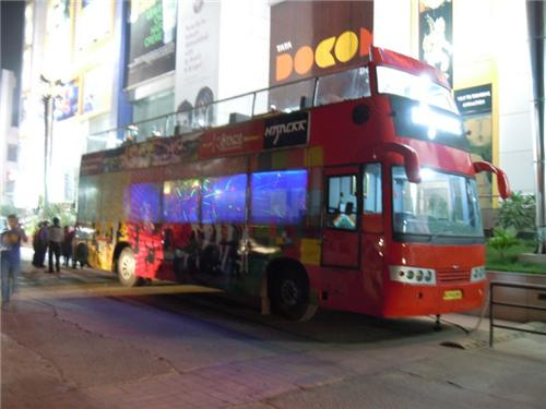 The unique Mobile bus Hijack Restaurant in Ahmedabad