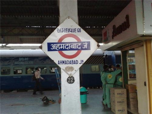 Sign Board at Ahmedabad Railway Station
