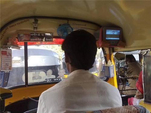 Autorickshaws in Ajitgarh