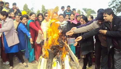 Lohri Being Celebrated in Ajitgarh