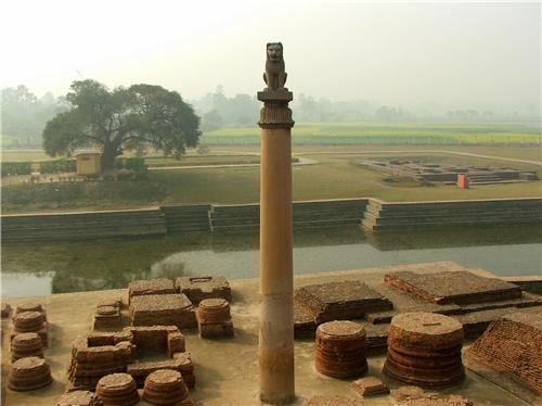 Ashoka Pillar in Allahabad