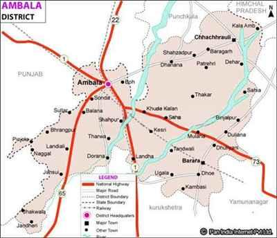 Geography of Ambala