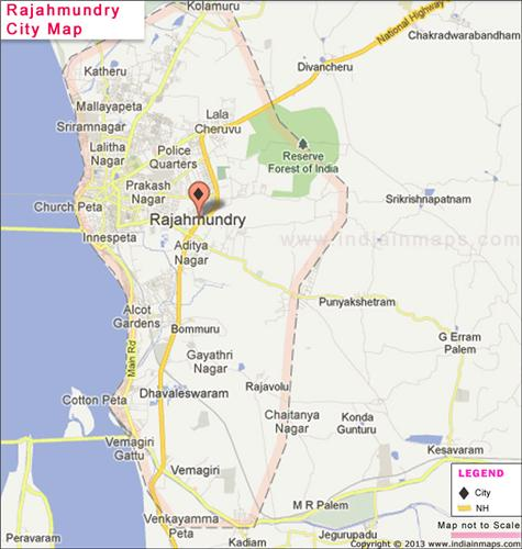 Rajahmundry City Map