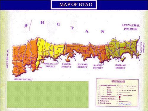 Map of BTC