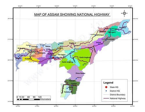 National Highways in Assam