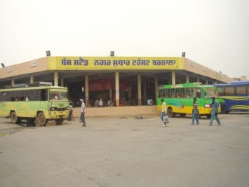 Bus Stand in Barnala