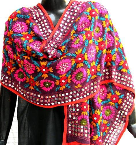 Phulkari Dupatta on Display