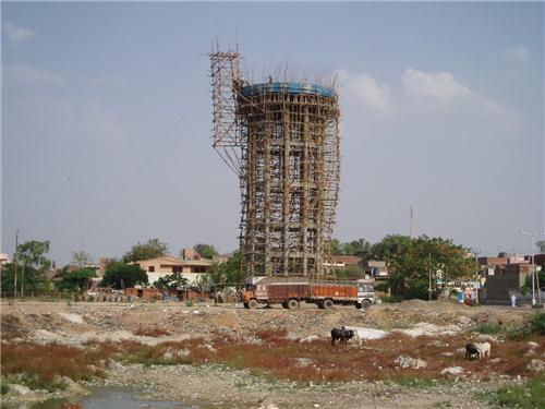 Water Tank under Construction in Barnala
