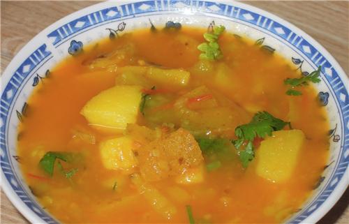 The tasty Aloo Tamatar ki Sabzi of Bharatpur