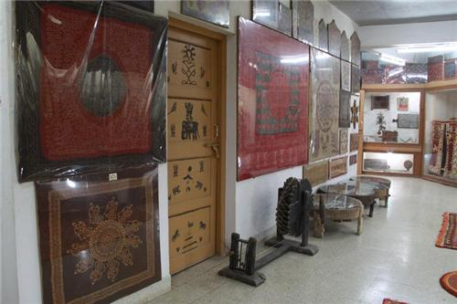 Inside the Bharatiya Sanskriti Darshan Museum in Bhuj