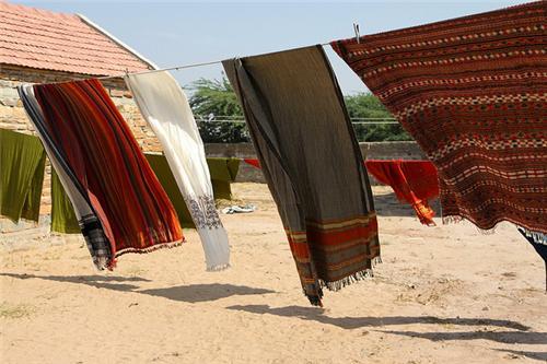 Shawls made at Bhujodi Village in Bhuj