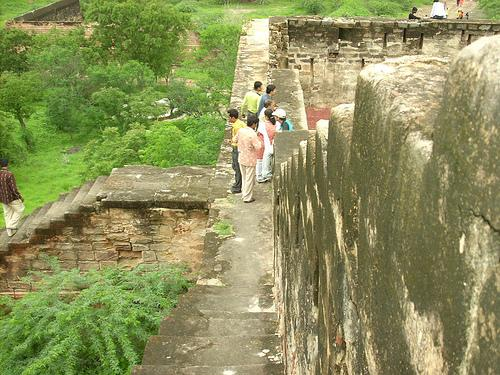Inside Bhujiya Hill Fort