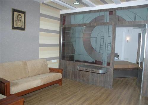 Inside Hotel Oasis in Bhuj