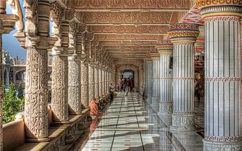 Inside the Swaminarayan Temple in Bhuj