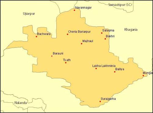 Geography of Begusarai