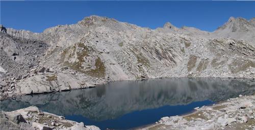 Kareri Lake from Baleni Pass