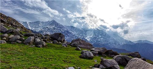 Triund from Indrahar Pass
