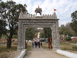 The Grand Entrance of Chandi Temple of Chandigarh