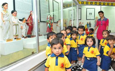 School kids are getting introduced to the International Doll Museum, Chandigarh