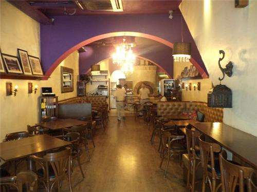 Interiors and decor of Cafe Nomad by Backpackers