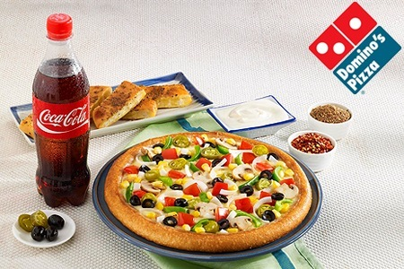 Domino's Pizza in Chandigarh delivers hot and fresh pizza in less than 30 minutes.