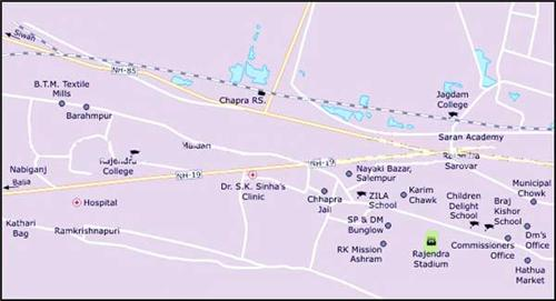 Geography of Chapra