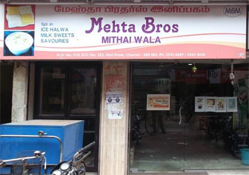 Mehta Bros Mithai Wala in Sowcarpet