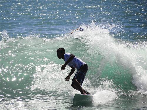 Surfing in Covelong