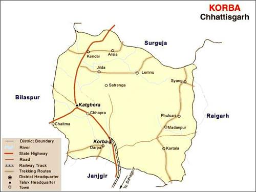 Geography of Korba