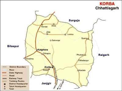 Geography of Korba
