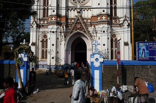 Trichy church entrance