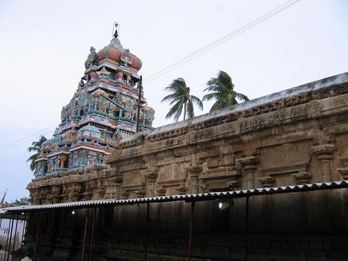 Main Gopuram of Kaatazhagiya Singaperumal Temple, Srirangam