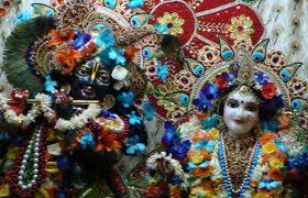 Deities of Radha Krishna at ISKCON